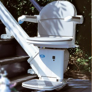 Sterling Handicare 1000 and 2000 outdoor stair lift Atlanta