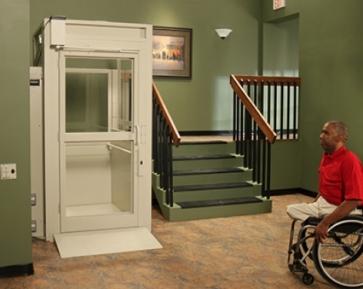 bruno enclosed vertical platform lift
